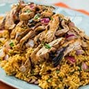 BROWN-RICE-WITH-SPICED-CHICKEN by catering company